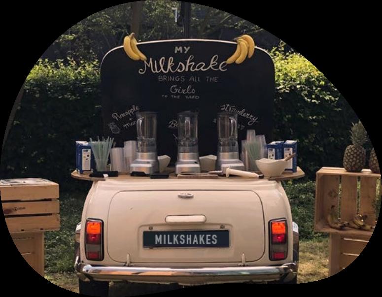 Mobiele milkshake bar voor elk event