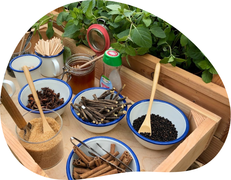 Ingredienten waarmee mensen zelf verse thee kunnen maken