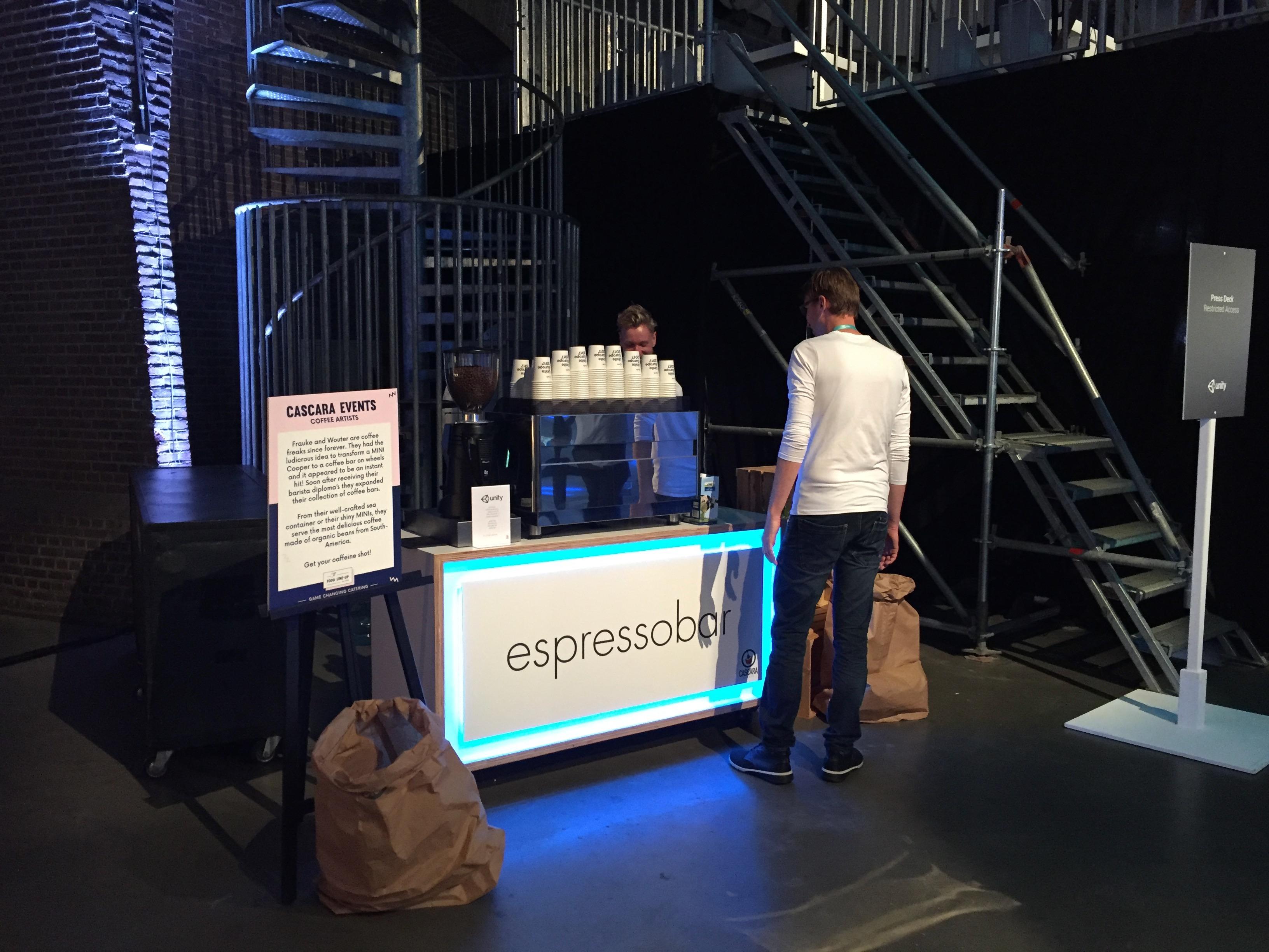 Een koffiebar op een congres