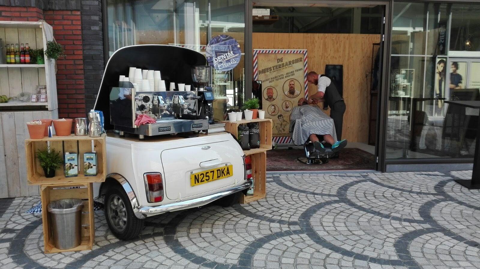 onze espresso mini bar in een winkelcentrum